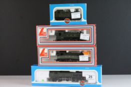 Four boxed OO gauge locomotives to include 2 x Lima (205111MWG GWR 2-6-2 & 205117MWG GWR 0-6-0)