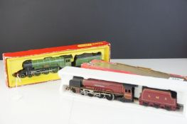 Two boxed Hornby OO gauge locomotives to include Triang Hornby R855N LNER Flying Scotsman with steam
