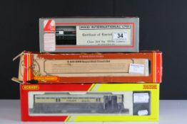 Boxed Lima OO gauge Eastfield locomotive plus a boxed Hornby R4526 Operating Mail Coach 849 and