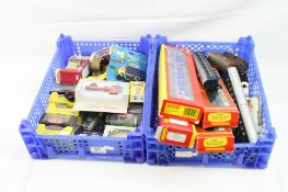 12 OO gauge items of rolling stock to include Hornby, Pocher, Triang plus 4 boxed Hornby coaches