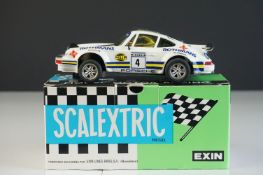 Boxed EXIN (Spanish) Scalextric 4069 Porsche 911 Rothmans slot car with instructions, appears vg