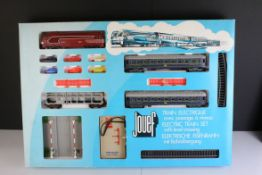 Boxed Jouef 7435 Electric Train Set with level crossing, complete with accessories and all 6 x cars