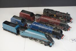 Four Hornby Dublo locomotives to include City of Glasgow, Duchess of Atholl, Mallard and 2-6-4 BR in