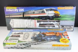 Two boxed Hornby OO gauge train sets to include R691 Midland Belle and R696 Intercity 225, both