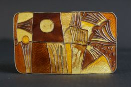 David Anderson Sterling Silver Gilt and Enamel ' Autumn ' Brooch, from the four season series,