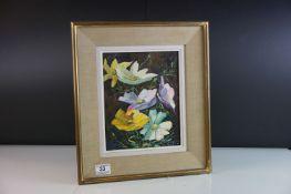 Elie Bernadac (1913 - 1999), Mid 20th century Oil Painting on Board, Stiff Life of Flowers,