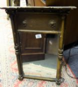 """Early 19 th century small over mantle mirror, gilt and gesso, 2' tall and 14"""" wide,"""