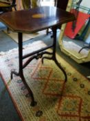 """Delicate early 19 th century centre table with shell motif inlaid top the top Sheraton Inspired, 27"""""""
