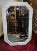 """Painted Edwardian period over mantle mirror, 30"""" tall 20"""" wide,"""