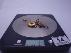 9ct GOLD items 16 grams,