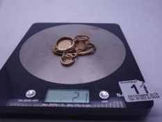 21 grams of assorted 9ct GOLD items, watch chain,