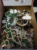 Amount of costume jewellery and various other beads,