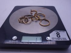 Selection of 9ct GOLD h/m or tested minimum 9ct items 12 grams,