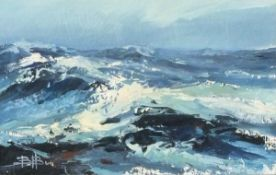 Barrie BRAY (British 1940-2015) Rising Storm, Oil on board, Signed with monogramme lower left,