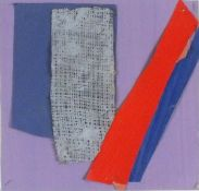 Sandra BLOW (British 1925-2006)Untitled Abstract - Red and Blue Stripes on a Lavender Ground,