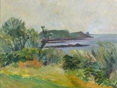 Elizabeth Lamorna KERR (British 1905-1990)St Martin - Isles of Scilly, Oil on canvas board,