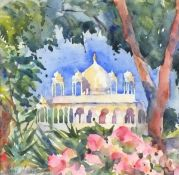 """Paul HOARE (British b. 1952)Indian Palace, Watercolour, Signed lower left, 9.75"""" x 9.75"""" (25cm x"""