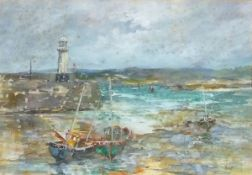 Yram ALLETS (British 1915-2009) (aka Mary Stella EDWARDS), St Ives, Watercolour, Signed Allets lower