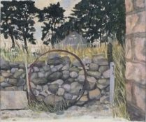 Rita SMITH (British 20th/21st Century) Wall and Hoop - Scotland, Watercolour, Signed and dated '