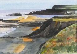 Martin VENNING (British 20th/21st Century)Towards Goollets? - Widemouth Bay, Watercolour, Signed