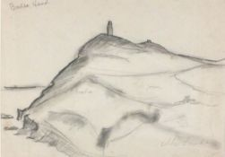 Alan LOWNDES (British 1921-1978)Bradda Head - Isle of Man, Pencil on paper, Signed lower right,