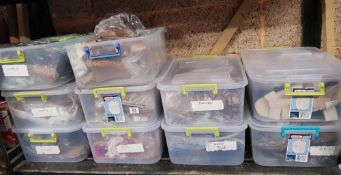 TEN BOXES OF MIXED SLIPPERS, COL AND SLIP-ON (MAINLY FOR WOMEN)