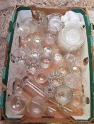 TWO CARTONS OF MIXED GLASS WARE