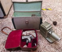 SEKONIC ELMATICK EIGHT SEMI-CCE IN CARRY CASE. CASE A/F AND ALDIS LIGHT PROJECTOR LAMP IN CASE