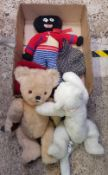 CARTON CONTAINING SOFT TOY TEDDY BEARS AND TWO HATS