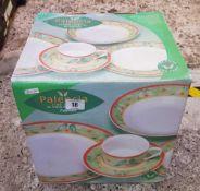BOXED PALENCIA TWENTY PIECE DINNER SET BY RAYWARE