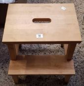 WOODEN ONE STEP KITCHEN STEP WITH HAND HOLE