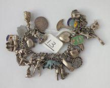 Another silver charm bracelet - 48gms