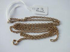 A fancy link neck chain in 9ct - 7.4gms