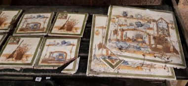 QTY OF FANCY CERAMIC TILES (USED A/F)