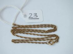 A rope-link neck chain in 9ct - 3.2gms