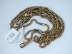 A BOXED LINK NECK CHAIN IN 9CT - 25.4GMS