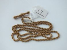 A rope twist neck chain in 9ct - 4.5gms