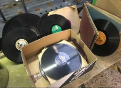 CARTON OF VINTAGE 78 RECORDS