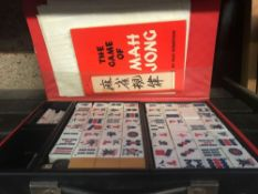 CASED SET OF MAHJONG