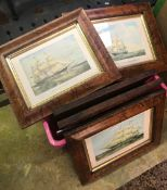 CARTON OF F/G PICTURES OF SAILING SHIPS