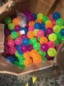 LARGE QTY OF SPIKY BOUNCE BALLS WITH LIGHTS A/F
