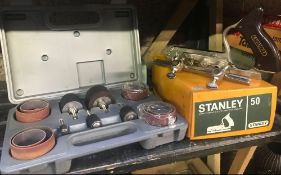 STANLEY NO. 50 COMBINATION ROUTER OR PLANE & A 25 PIECE RUBBER SANDING DRUM SET