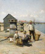 Walter Frederick Osborne RHA ROI (1859-1903) A TALE OF THE SEA, 1885 oil on canvas signed and