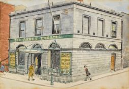 Harry Kernoff RHA (1900-1974) THE ABBEY THEATRE, MARLBOROUGH STREET, DUBLIN watercolour signed lower