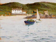 James Humbert Craig RHA RUA (1877-1944) BALLINTOY, COUNTY ANTRIM oil on panel signed in pencil lower