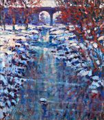 Arthur K. Maderson (b.1942) MORNING LIGHT AFTER THE SNOW oil on panel signed lower left 41 by
