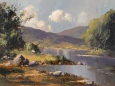 George K. Gillespie RUA (1924-1995) NEAR SALROCK, COUNTY GALWAY oil on canvas signed lower left;