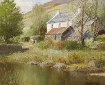 Maurice Canning Wilks RUA ARHA (1910-1984) MCCORMICK'S FARM, GLENDUN, CUSHENDUN, COUNTY ANTRIM oil