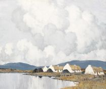 Paul Henry RHA (1876-1958) THE BLUE HILLS OF CONNEMARA, 1933 oil on canvas signed lower right;