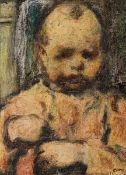 William Conor OBE RHA RUA ROI (1881-1968) THE SULKY CHILD crayon signed lower right; titled and with